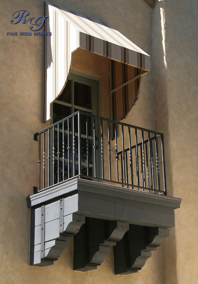 Rg fine ironworks gallery stair balcony railings for Balcony gallery